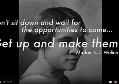 Dedication to Madam C.J. Walker: Indiana Conference for Women 2014