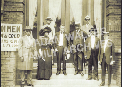 Madam Walker with Booker T. Washington et al at Senate YMCA 1913