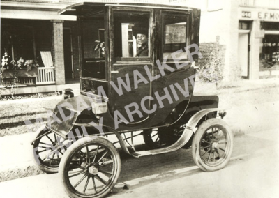 Madam Walker in her Electric Car