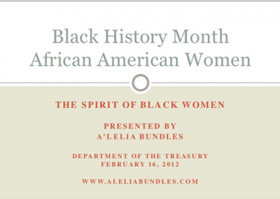 Black History Month Presentation – Dept of Treasury (Feb 16, 2012)