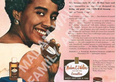 Madam Walker Ad from 1960s
