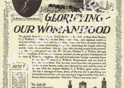 "Walker Ad - ""Glorifying Our Womanhood"""